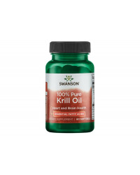 100% Pure Krill Oil 500 мг 60 гел-капсули | Swanson