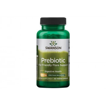 Prebiotic for Friendly Flora Support 750 мг FOS 60 веге капсули | Swanson