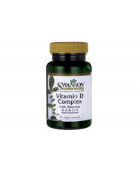 Vitamin D Complex with Vitamins D-2 & D-3 60 веге капсули | Swanson