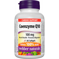 Coenzyme Q10 100 мг 60 гел-капсули | Webber Naturals