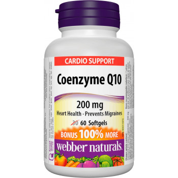 Coenzyme Q10 200 мг 30 гел-капсули | Webber Naturals