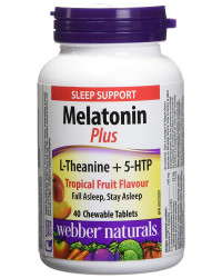 Мelatonin Plus L-Theanine + 5-HTP 40 таблетки | Webber Naturals