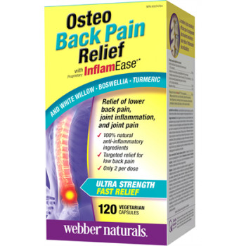 Osteo Back Pain Relief with InflamEase 275 мг 120 капсули | Webber Naturals