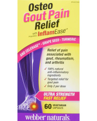 Osteo Gout Pain Relief with InflamEase 570 мг 60 капсули | Webber Naturals