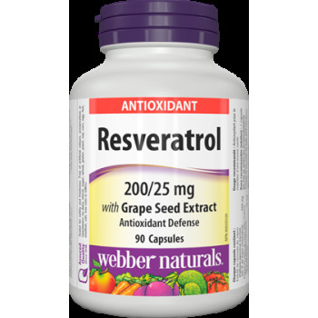 Resveratrol with Grape Seed Extract 225 мг 90 капсули | Webber Naturals