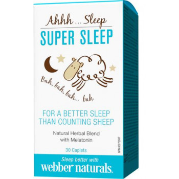 Super Sleep 203 mg 30 caplets | Webber Naturals