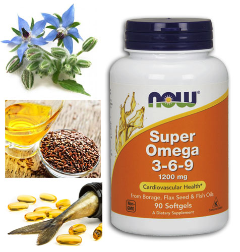 Super Omega 3-6-9 1200 mg 90 softgels от Now Foods на топ цена доставя ценни масла на организма, източник на омега-3-6-9